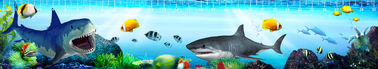 Ocean Creature 4.5 x 21cm 3D Ruler Lenticular Printing Services For Kid Gifts
