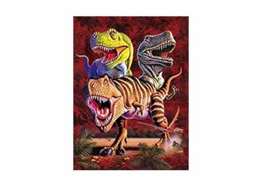 0.6mm PET + 157g Paper 3D Lenticular Printing Service Of Dinosaure Images