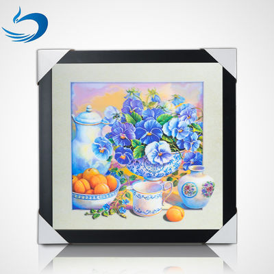 China 5D Natural Flowers 40 x 40cm Poster Custom Lenticular Printing For Home Hanging factory