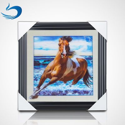 China 40 * 40cm Horse Poster Custom Lenticular Printing For Gifts And Home Decor factory