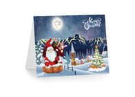 3D 12x17cm Greeting Card Lenticular Printing Services  With Customized X-mas Images