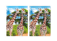 Giraffe Animal Custom 3D Lenticular Notebook For School Stationery Set