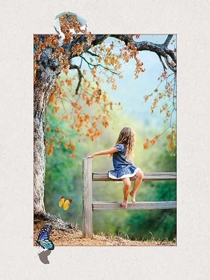 Four Season Tree 5d Lenticular Pictures 0.6mm Pet 30*40cm Painting Poster