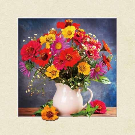 Waterproof Flower Images 5d 3D Lenticular Pictures 40x40cm For Restaurant